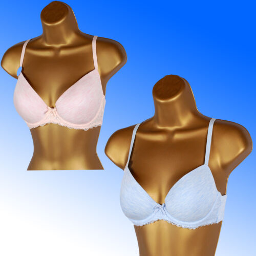 Ladies Store Group Smooth T Shirt Bra Padded Molded MARL Cup Underwire Bra