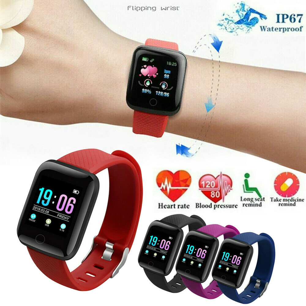 Bluetooth Good Watch Coronary heart Price Blood Oxygen Sport Health Tracker US Inventory