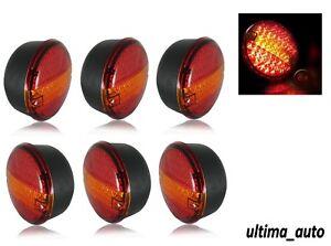 3-x-Coppia-12V-Post-Luci-LED-Stop-Coda-Freccia-4-Funzione-Trattori-Camion