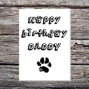 Funny cute birthday card happy birthday daddy from the dog messy image is loading funny cute birthday card happy birthday daddy from bookmarktalkfo Images