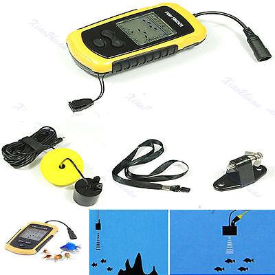 100M Portable Sonar Sensor Fish Finder Fishfinder Capturing Transducer Alarm New