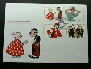 SJ-Portugal-Portuguese-Comic-Strip-Heroes-2004-Music-Animation-FDC