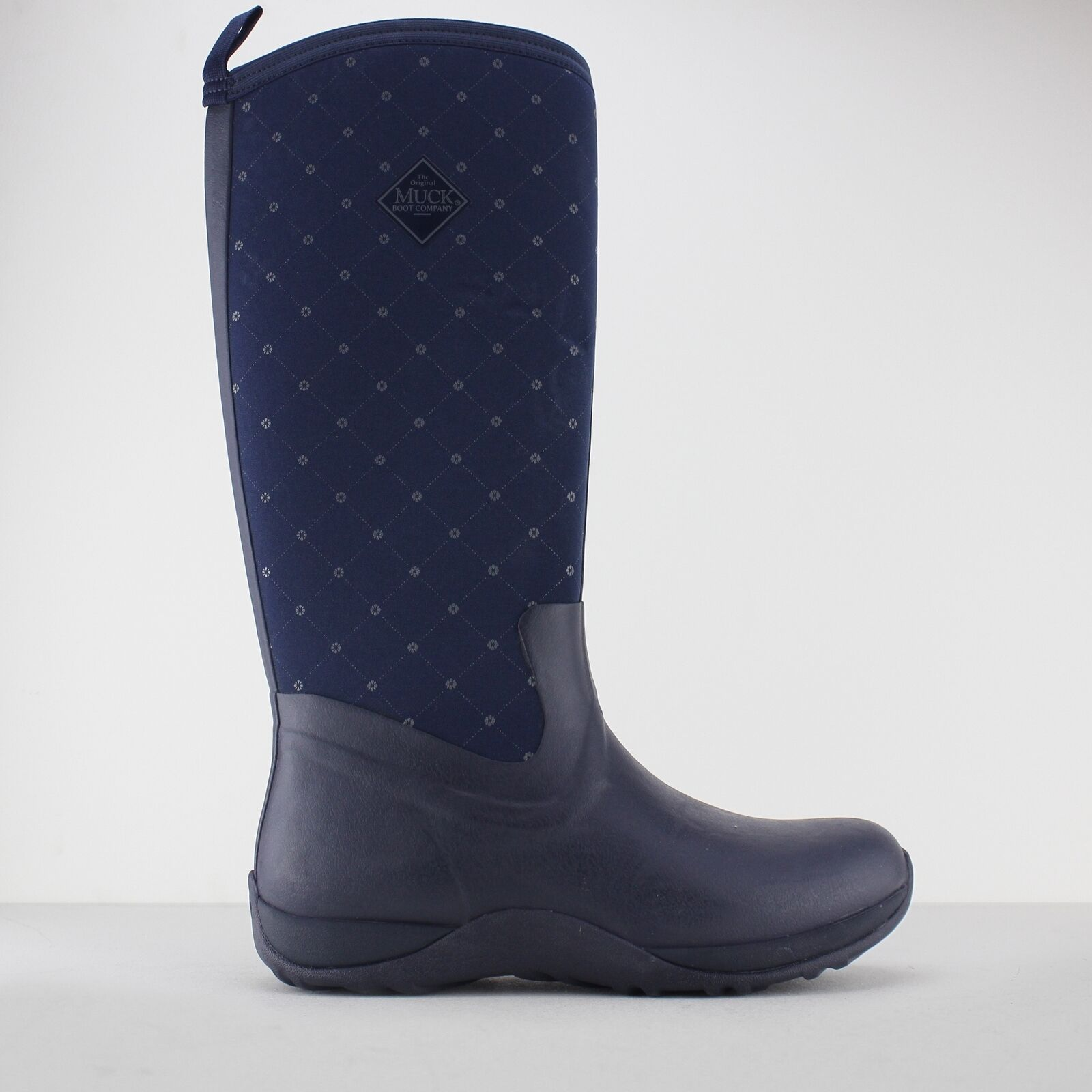 Muck Boots ARCTIC ADVENTURE Ladies Womens Warm Comfy Wellington Boots Navy Quilt