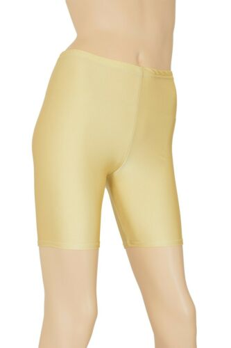 Donna Radler Pelle Radler Pantaloni lucentezza Shorts Shiny STRETCH pantaloni corti lucido