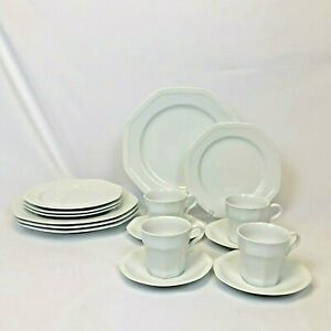 16-PC-SET-Savoir-Vivre-MAISON-BLANCHE-4-4pc-PLACE-SETTINGS-DINNER-SALAD-PLATES