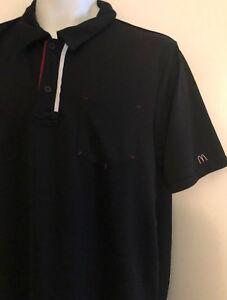 Image is loading McDonald-s-Black-Polo-Work-Uniform-Shirt-Adult- 3c2b86f7862