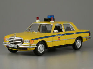 Mercedes-Benz-450SEL-6-9-USSR-Police-1975-Year-1-43-Scale-Collectible-Model-Car