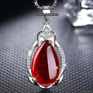 BLACK-FRIDAY-Ruby-Red-Stone-Necklace-Xmas-Gift-For-Her-Mum-Daughter-Sister-Women