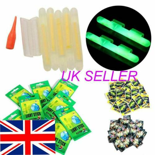 50X Fishing Fluorescent Lightstick Light Night Float Clip On Dark Glow Stick