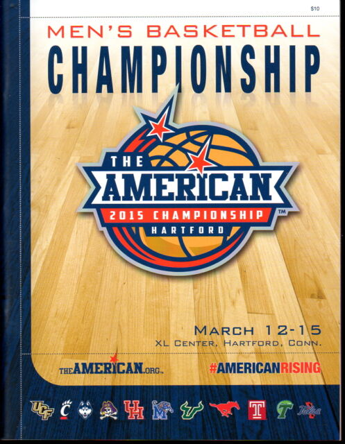 AAC The American 2015 Men's Basketball Championship Program UCONN SMU TULSA USF