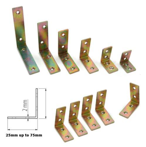 Acero de 25mm a 75mm soporte esquina forma L ángulo Brace Packs