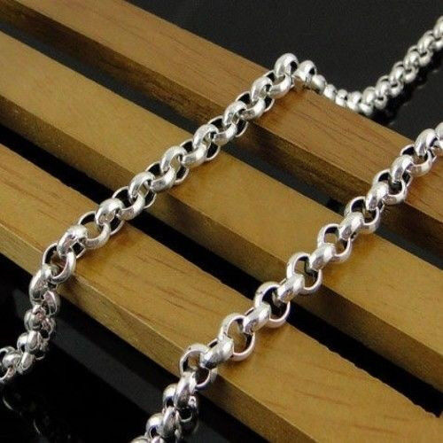 Wholesale 5M In Bulk Factory Round Rolo DIY Chains Stainless Steel 3//5//6//8mm