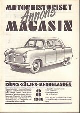 Motorhistoriskt Magasin Annon Swedish Car Magazine 8 1986 Chevrolet 032717nonDBE