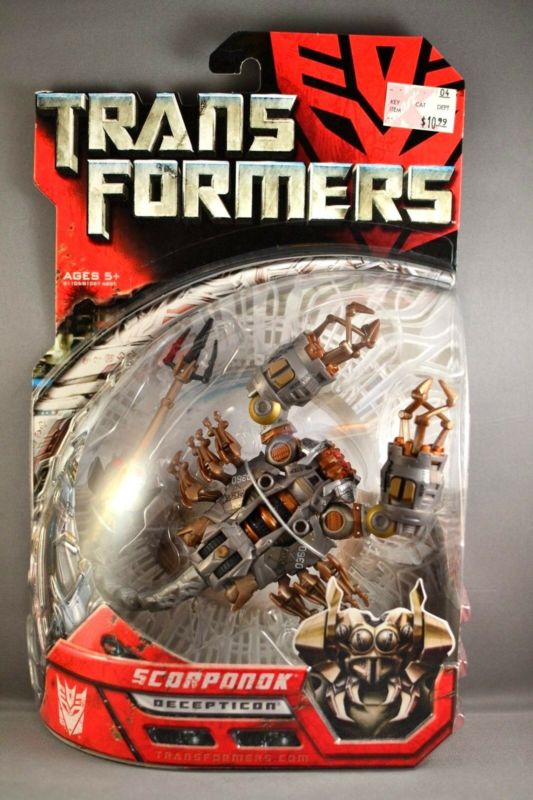 Hasbro Transformers Movie Deluxe Scorponok Action Figure 2007 BRAND NEW SEALED