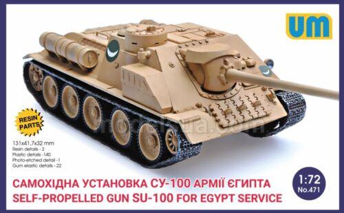 Su-100 Self Propelled Gun UM 1//72 Vehicle Egypt