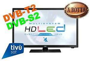 TV-LED-LCD-HD-Ready-24-034-Trevi-LTV-2401-SAT-TivuSat-Nero-12-Volt-DVB-T2-DVB-S2