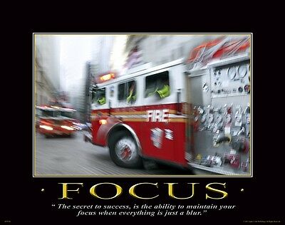 Firefighting Motivational Poster Art Fireman Equipment Badge Helmet Tools MVP185