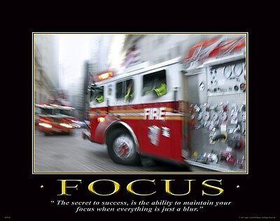 Firefighting Motivational Poster Art Fireman Equipment Badge Helmet Tools MVP185