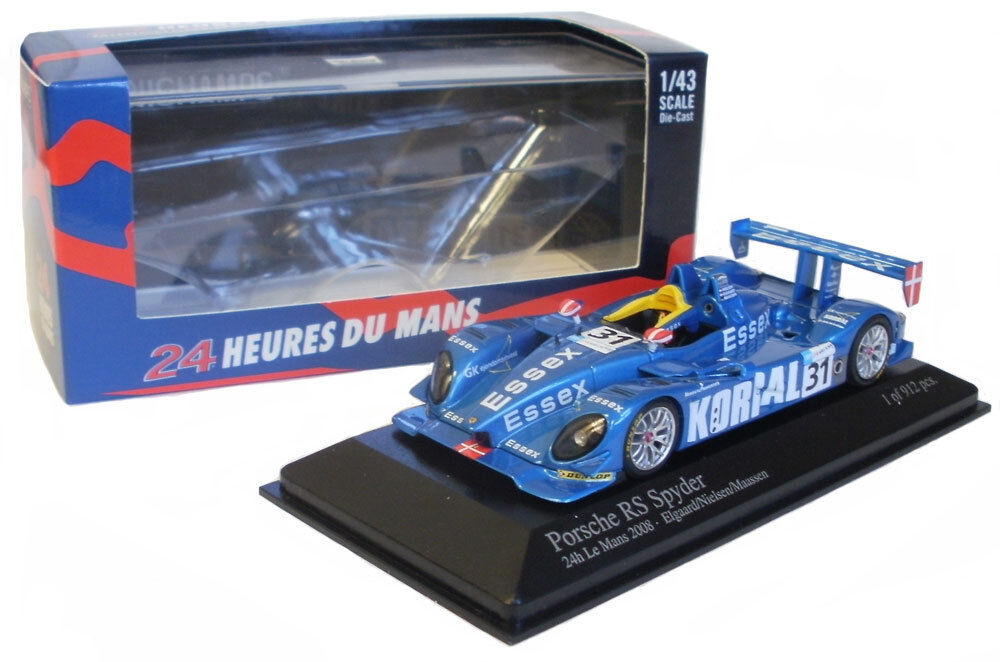 hasta 60% de descuento Minichamps Porsche Rs Spyder   31 31 31  Essex  Le Mans 2008 - 1 43 Escala  orden ahora disfrutar de gran descuento