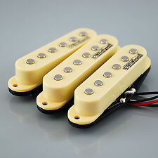 NUOVO Set di WILKINSON HOT pickup single coil per Strat ® * chitarre, Avorio MWHS