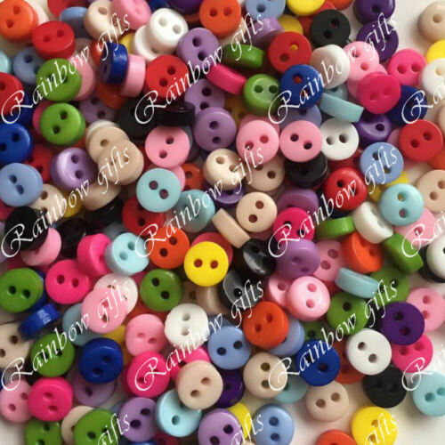 6mm MICRO BUTTONS MINI BUTTONS TINY DOLL CLOTHES BUTTONS SCRAPBOOKING CRAFT