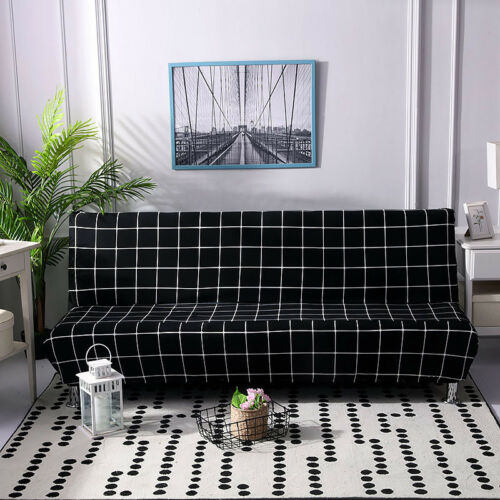 Universal Armless Sofa Cover Elastic Force All-inclusive Folding Sofa Bed Cover