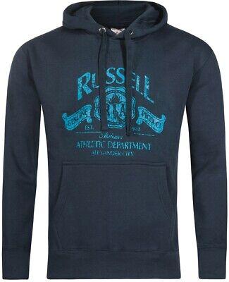 Der GüNstigste Preis Russell Athletic Printed Logo Mens Hoody - Navy Eleganter Auftritt
