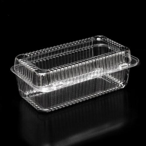 215 x 107 x 82 mm-K38 10-300 en plastique jetable transparent Boxes for Food Cake Taille