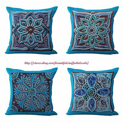 4pcs Decorative Throw Pillows For Cushion Covers Moroccan Geometric Ebay
