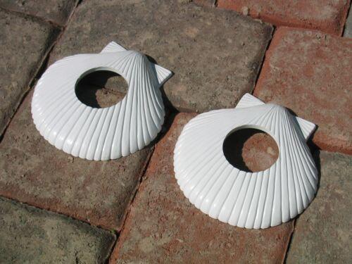 New Pool Escutcheons for In-ground Pool Rails White Sea Shells  4 Pack