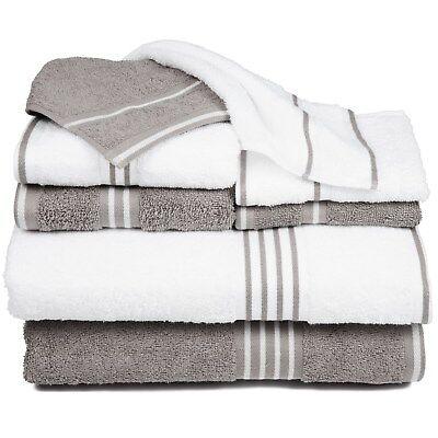 Lavish Home 100/% Cotton Towels Plush 650 GSM Bath Towels 8 Piece Set