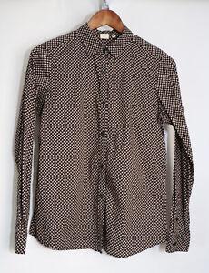 Orla-Kiely-For-Uniqlo-Black-Signature-Graphic-Print-Cotton-Shirt-Medium