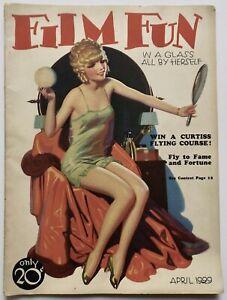 Vintage-April-1929-Film-Fun-Magazine-Art-Deco-Pin-Up-Flapper-Cover-Enoch-Bolles