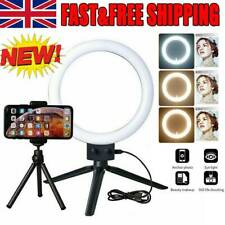 6'' LED Ring Light Dimmable Lighting Kit Selfie TripodMakeup Youtube Live Phone