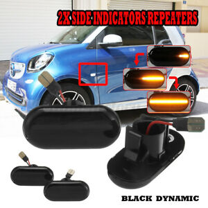 2x Dynamic LED Side Marker Indicator Light For Renault Clio 1 2 Trafic