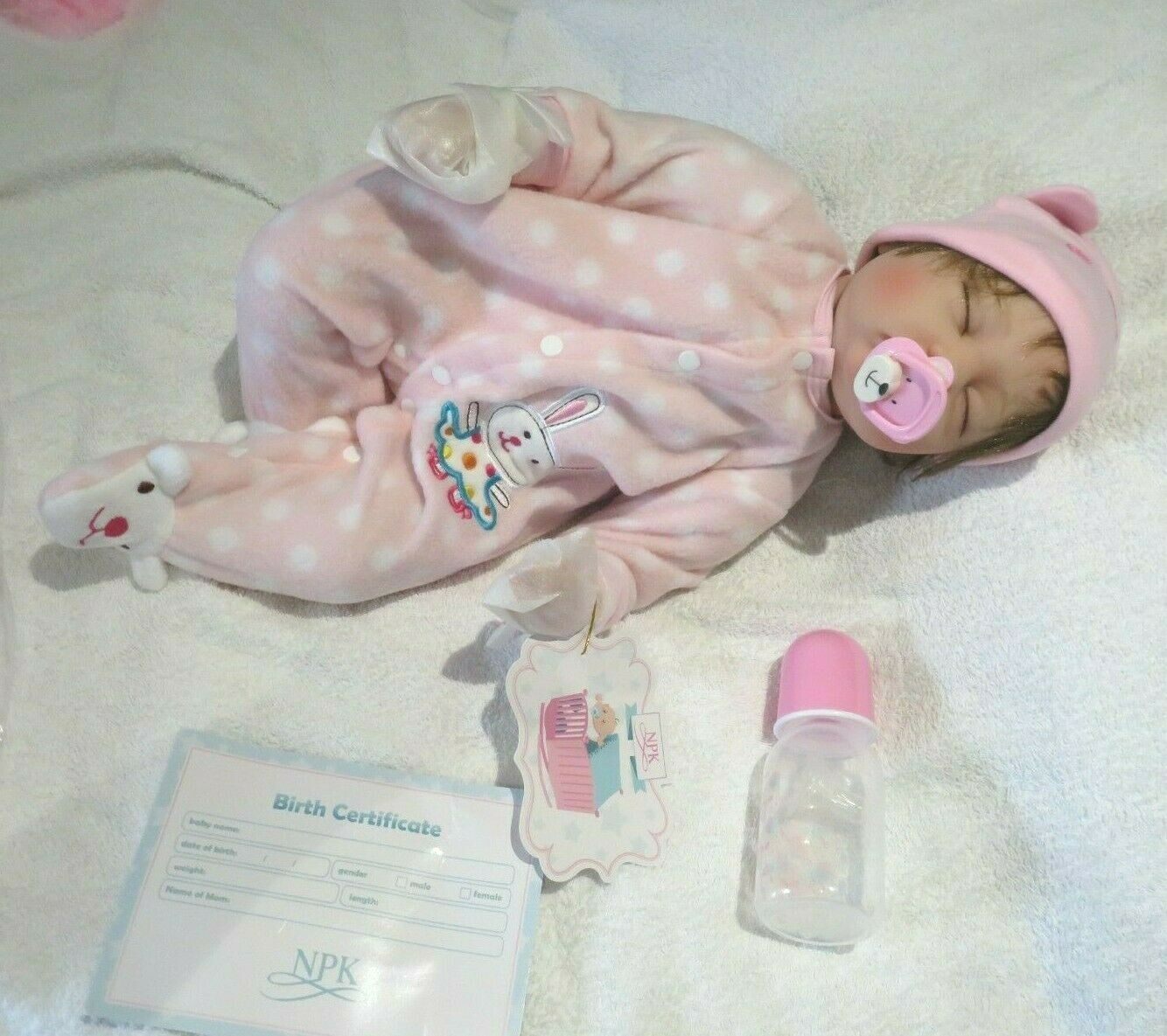 """NPK REBORN ANATOMICALLY CORRECT MAMA BABY GIRL DOLL 21"""" NEW WITH ACCESSORIES"""