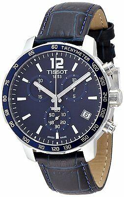 Tissot Quickster Blue Dial Chronograph Men's Blue Strap Watch T0954171604700