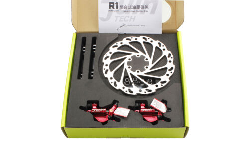 Juin Tech R1 Road Cyclocross Gravel Bicycle Bike Hydraulic Disc Brake Set Red