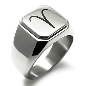 Stainless-Steel-Astrology-Aries-Square-Mens-Square-Biker-Style-Signet-Ring