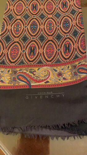 Genuine Givenchy 100% Pure Silk Mens Scarf