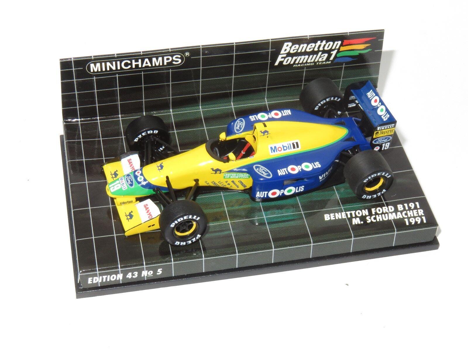 1 43 43 43 Benetton Ford B191  Season 1991   M.Schumacher f09da5