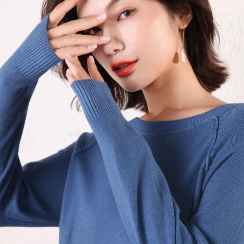 Donna Inverno 100/% CASHMERE Maglioni a maglia Pullover di alta qualità Caldo O-Collo
