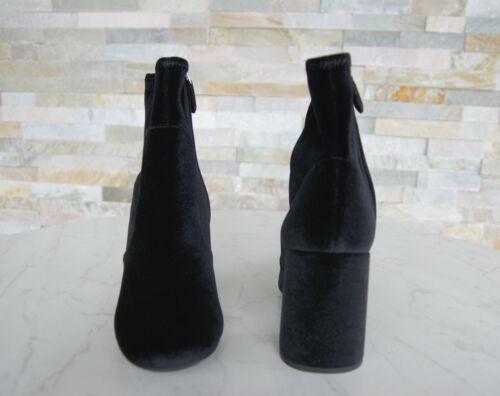 PRADA T 39,5 bottines 1t708h Chaussures velours Noir Stretch Nouveau Ancien Prix Recommandé 690 €