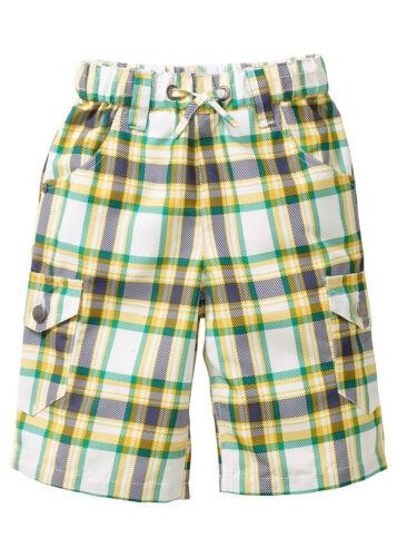 BPC enfants longbermuda 3//4 Bermuda shorts pantalon carreaux polyester blanc taille 912923