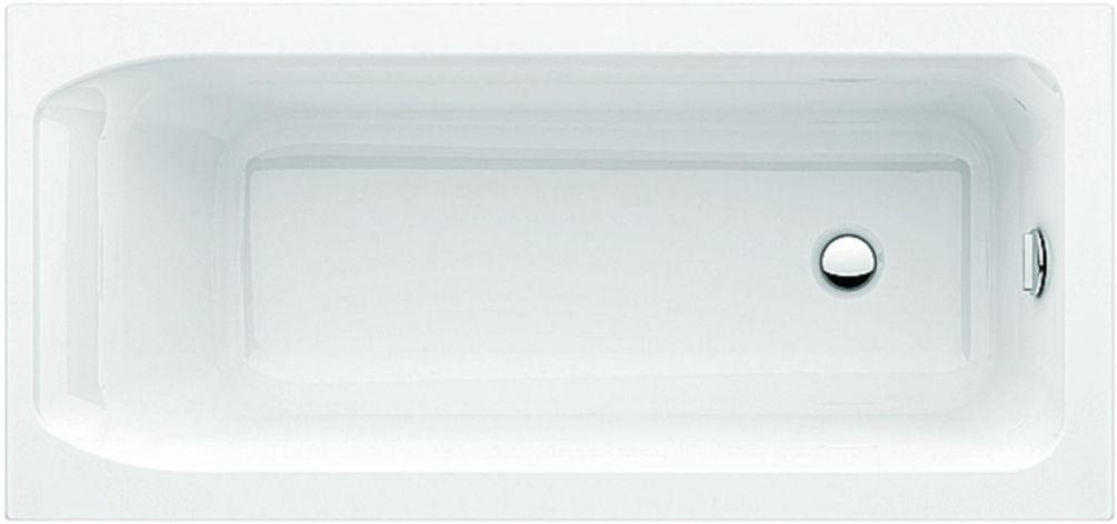 Acryl Badewanne Diana Plus  170 x 75 cm  weiß  Wannenträger  Ablaufgarnitur