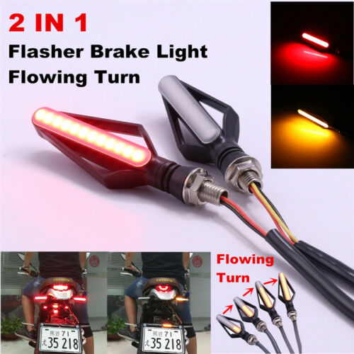2in1 Dual Colors 24LED Tailight Brake Strobe Flowing Turn Signal Indicator Light