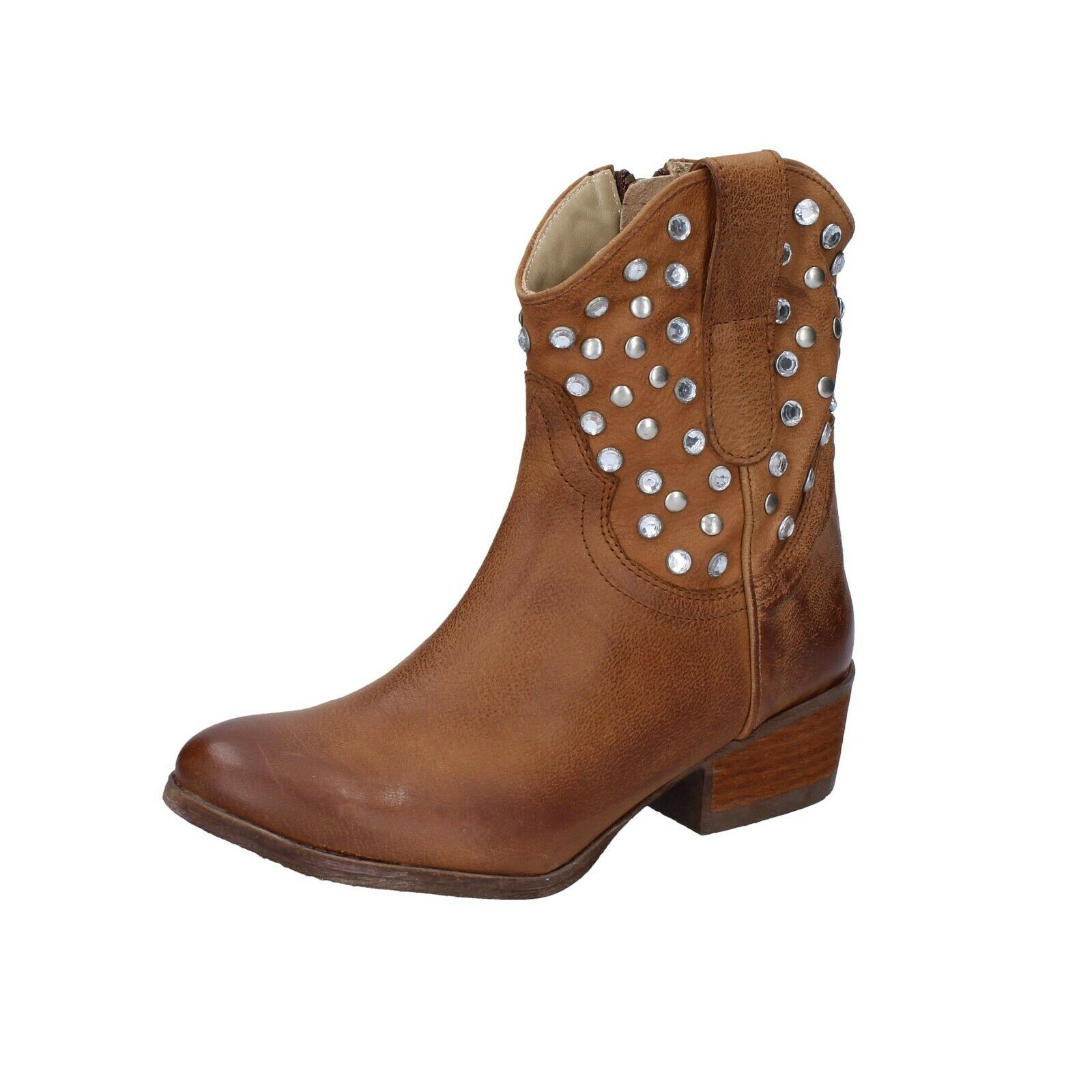 Womens shoes MANAS 3 (EU 36) ankle boots brown leather AH911-36