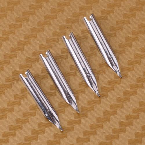 4 Stück 0.8mm Pen Bent Nibs Schreibfedern für Wing Sung 698 601 Füllfederhalter