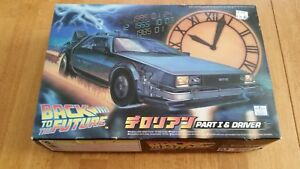 Aoshima-1-24-Back-to-the-Future-Part-1-I-amp-Driver-DeLorean-plastic-kit-model