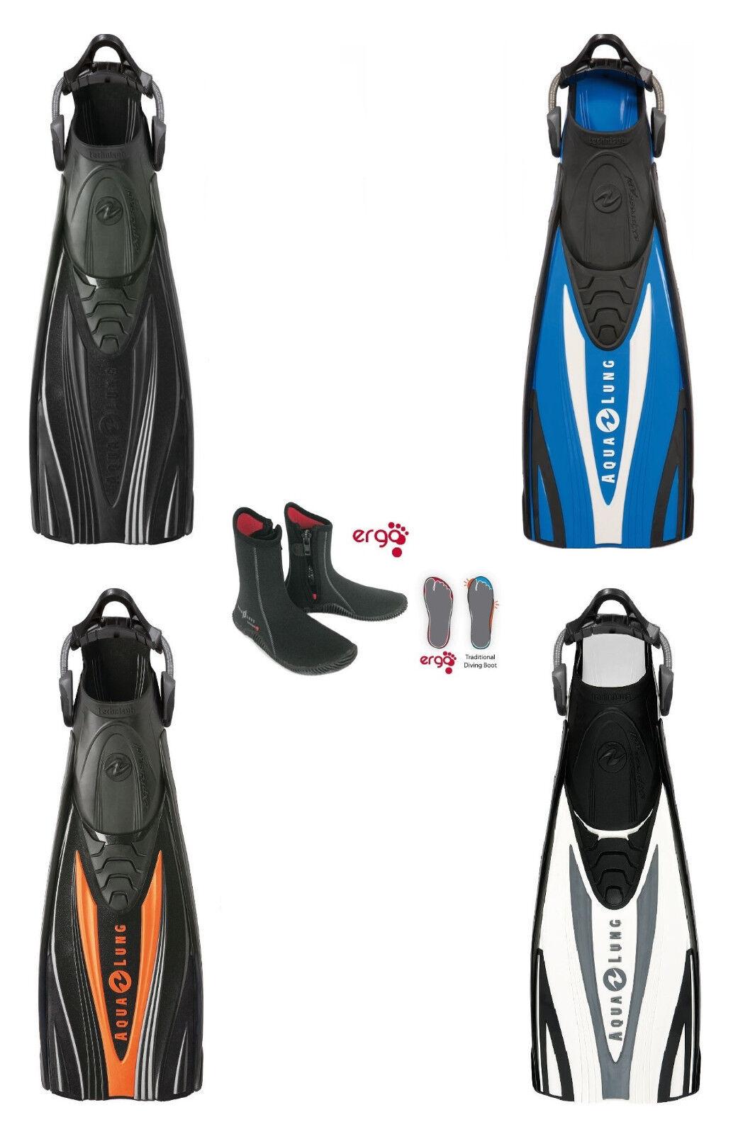 Aqualung Express Adj Echozip Set Dispositivo Aletas con Zapatos Tiras Gr.38-48